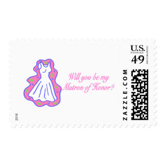 Will You Be My Matron Of Honor (Dress) Postage