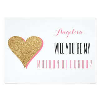 Will You Be My Matron of Honor Invitation