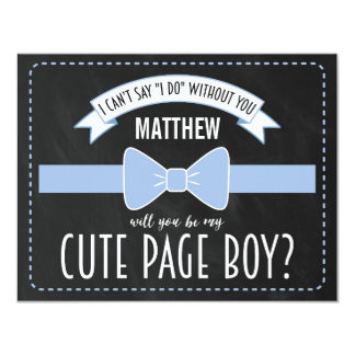 WILL YOU BE MY PAGE BOY?   PAGE BOY CARD
