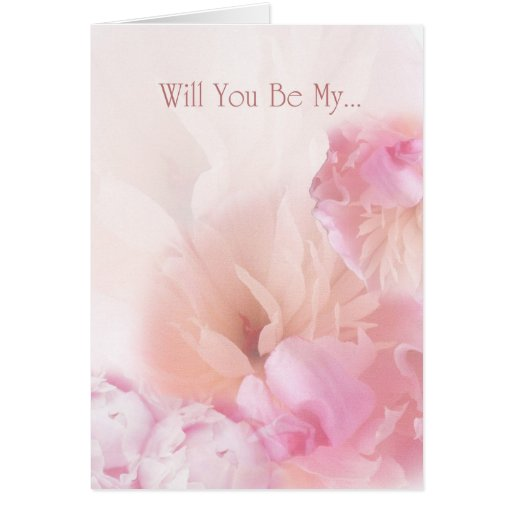 Will You Be My ... Peonies Invitation