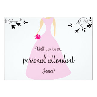 Will You Be My Personal Attendant Invitation