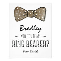 Will You Be My Ring Bearer? | Rustic Wedding Card