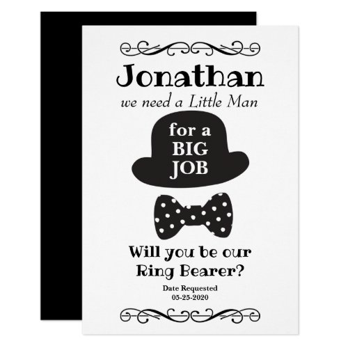 Will You Be My Ring Bearer Vintage Style Invitation