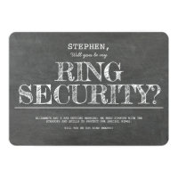 Will You Be My Ring Security Funny Proposal Invitation