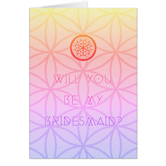 will you be my sacred bridesmaid card