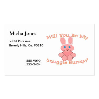 Will You Be My Snuggle Bunny Double-Sided Standard Business Cards (Pack Of 100)