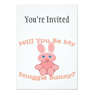 Will You Be My Snuggle Bunny 5x7 Paper Invitation Card