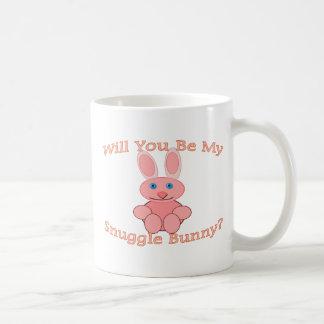 Will You Be My Snuggle Bunny Classic White Coffee Mug