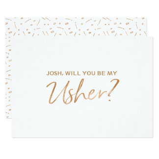 """""""Will you be my usher"""" 