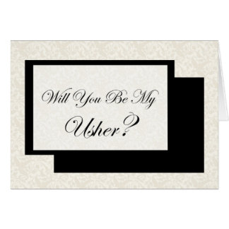 Will You Be My Usher? Greeting Cards