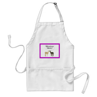 Will you be my  Valentine? Adult Apron