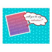 Will You Be My Valentine Photo Frame Postcard