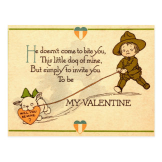Will you be my Valentine? Post Card