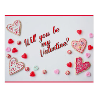 Will You Be My Valentine Postcard