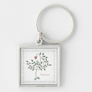 Will you be my Valentine? Square Keychain