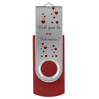 Will you be my Valentine? USB by DAL Flash Drive