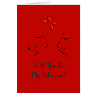 Will You Be My Valentine? - Valentines Day Card