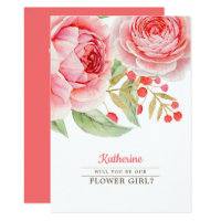 Will you be our Flower Girl? Invitation Card