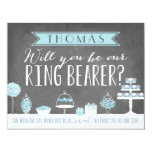 Will You Be Our Ring Bearer | Groomsman 4.25x5.5 Paper Invitation Card