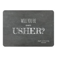 Will you be our Usher Proposal Card