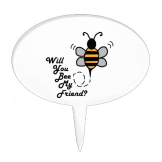 Will You Bee My Friend? Cake Pick