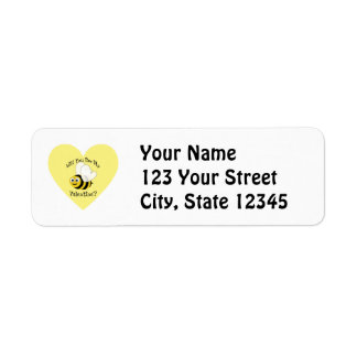 Will You Bee My Valentine? Label