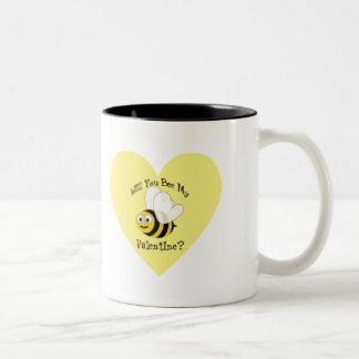 Will You Bee My Valentine? Two-Tone Coffee Mug