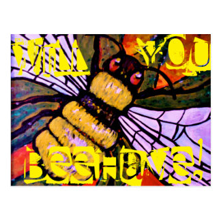 Will you behave! postcard