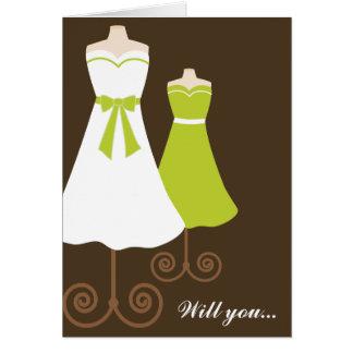 Will you? Custom Bridesmaid Card