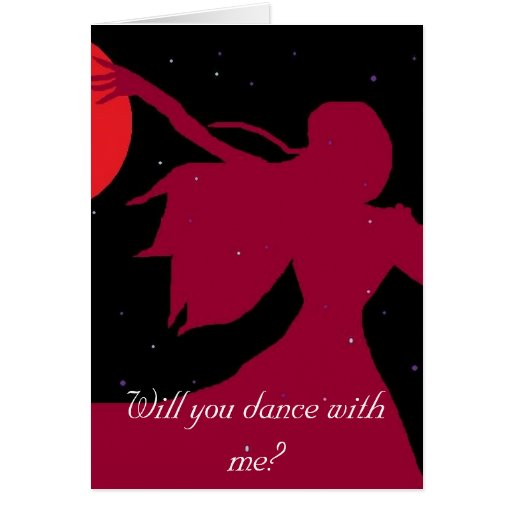 Will you dance with me cards