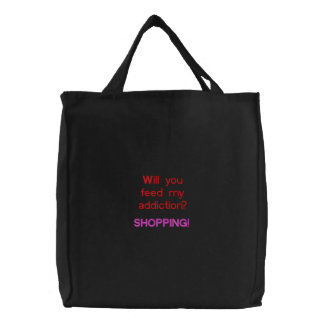 Will you feed my addiction? SHOPPING! Canvas Bags
