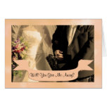 Will You Give me Away? Personalized Stationery Note Card
