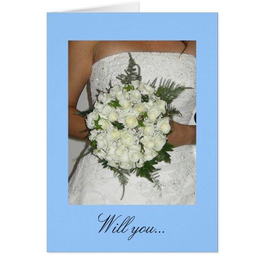 Will you... invitation card
