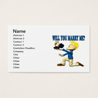 Will You Marry Me 10 Business Card