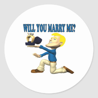 Will You Marry Me 10 Classic Round Sticker