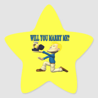 Will You Marry Me 10 Star Sticker