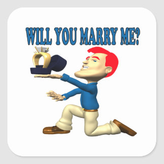 Will You Marry Me 12 Square Sticker