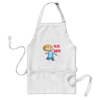 Will You Marry Me 2 Adult Apron