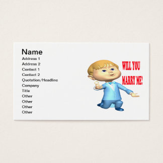 Will You Marry Me 2 Business Card