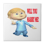 Will You Marry Me 2 Ceramic Tiles