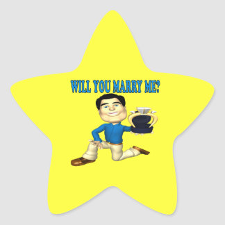 Will You Marry Me 3 Star Sticker