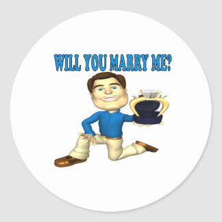 Will You Marry Me 4 Classic Round Sticker