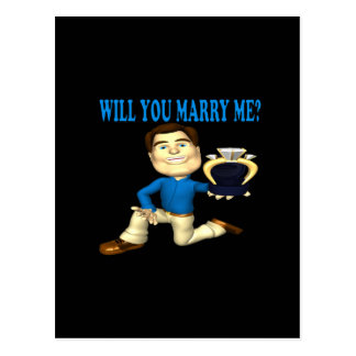 Will You Marry Me 4 Postcard