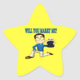 Will You Marry Me 4 Star Sticker