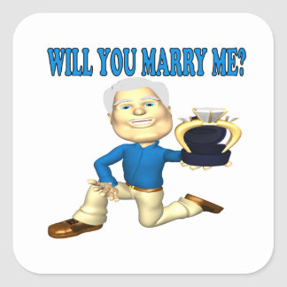Will You Marry Me 5 Square Sticker