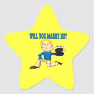 Will You Marry Me 6 Star Sticker