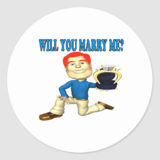 Will You Marry Me 7 Classic Round Sticker