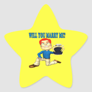 Will You Marry Me 7 Star Sticker