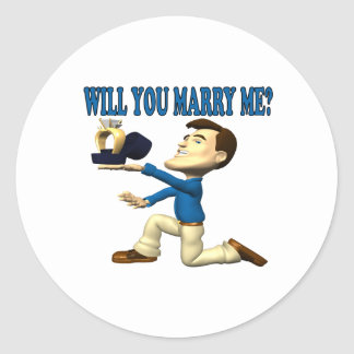 Will You Marry Me 8 Classic Round Sticker