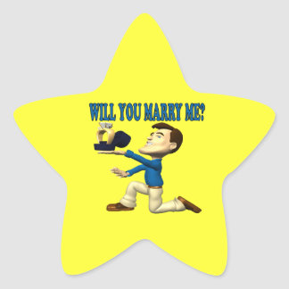 Will You Marry Me 8 Star Sticker